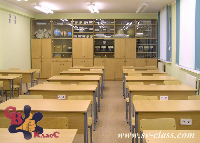 laboratory tables for a physics classroom