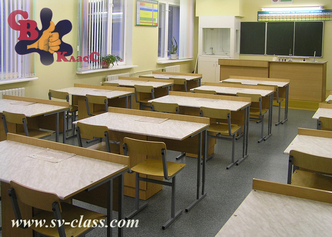 laboratory tables for a chemistry classroom