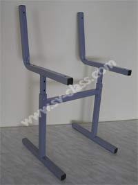 Metal framework of the pupil's chair with regulated (changed) height