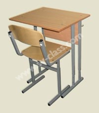 Pupil's one-seater set with adjustable height