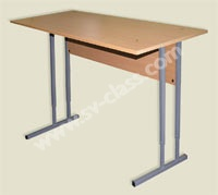 Pupil's two-seater table with adjustable height
