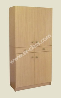 Closed cabinet with drawers