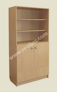 Half-open cabinet for tables