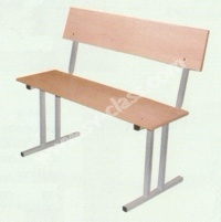 Two-seater bench (with a back)